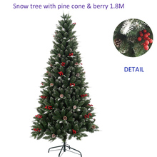 Artificial berries cones pre decorated christmas tree hot sale 2017