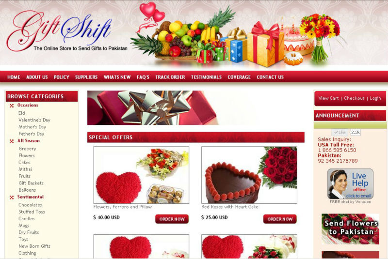 E-commerce, online store product catalogue website design