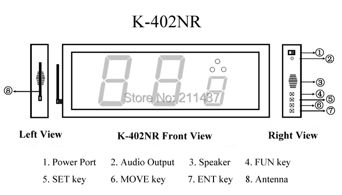 K-402NR Function structure diagram of wireless calling system