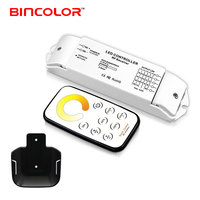 T2+R4 tunable led light color temperature 4 channel dimmer rf touch remote control adjustable led strip cct controller