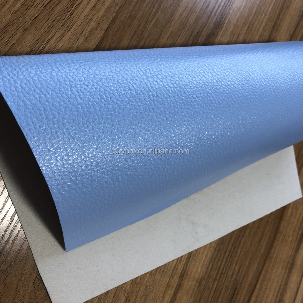 2017 Hot Sales blue color pu artificial leather material