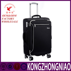 travelmate luggage for year promotion cheap price 4 pcs luggage trolley bag soft nylon luggage bags