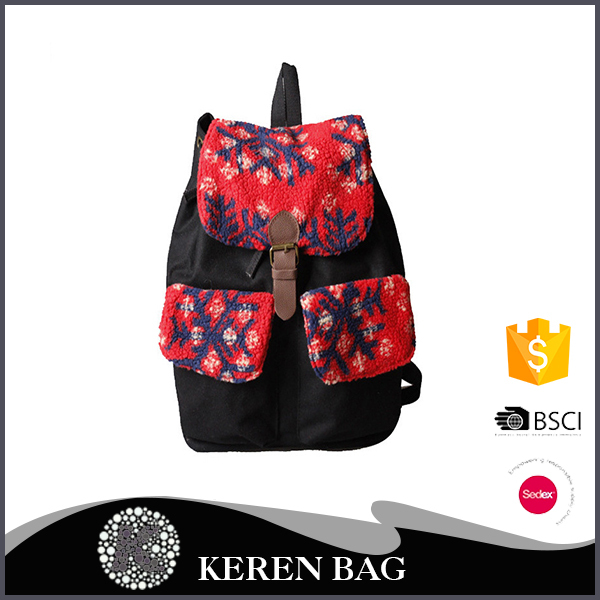 Most Popular fashion printed vintage school bag for teens