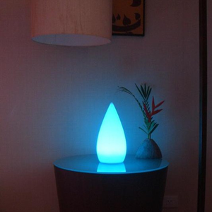 remote control battery powered 16 colors changing decorative led night lamp water drop cordless led mood light