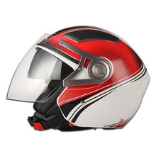 Brand JX-OP02 open face two mirror helmet helmet 2015 double visor open face helmet