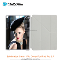Foldable sublimation leather flip phone case for iPad Pro 9.7""