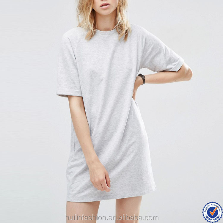 all types of ladies dresses short raglan sleeve casual cheap t shirt dress