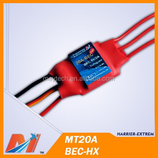 Maytech Brushless esc 20A speed controller for aviones radio control
