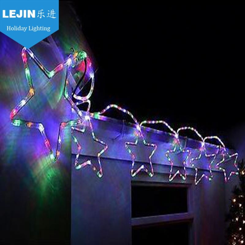 New style high severel stars shining led pole fancy motif light for decoration