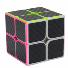Best selling cube carbon fiber sticker speed smooth magic cube fidget cube