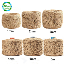 Natural high strength colored bulk jute twine hemp rope wholesale