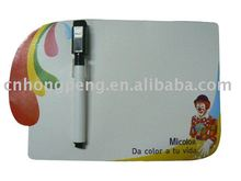 Paper Fridge Magnet Writing Board+Board Pen