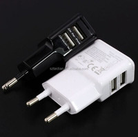 EU/US Plug True 2A 2 Ports Dual Double USB Power AC Wall Charger Travel Adapter for iphone IPAD Samsung s4 s5