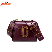 2017 Latest Design Ladies Genuine Leather Shoulder Flap Bags Cross Body Bag