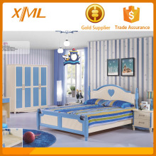 foshan fashion orange and white boys kids bedroom furniture sets