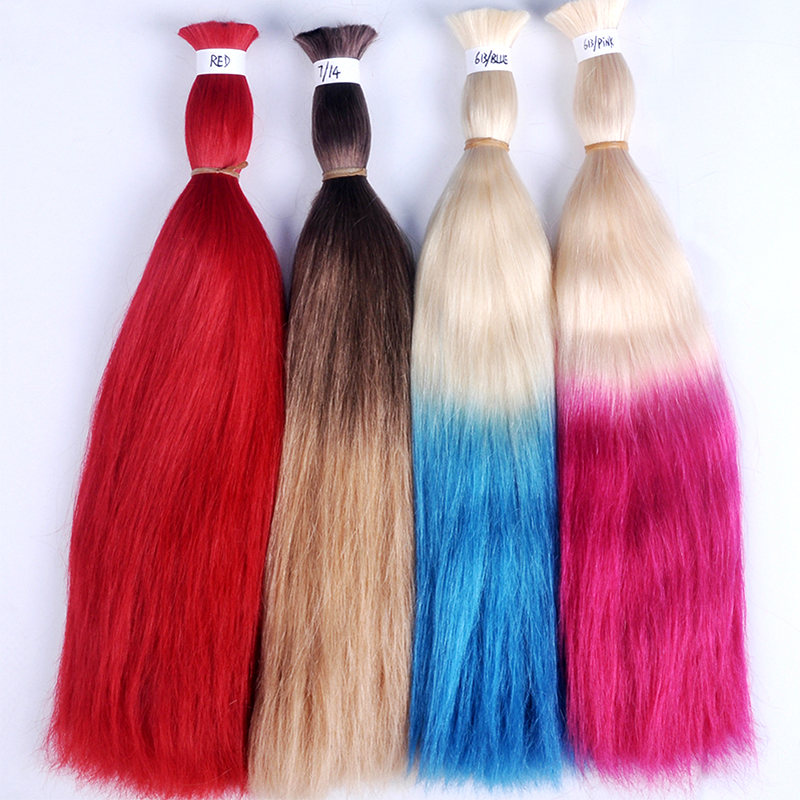 Factory Price Wholesale No Tangle No Shedding Bulk Hair Cheap Raw Virgin Human Hair Bulk