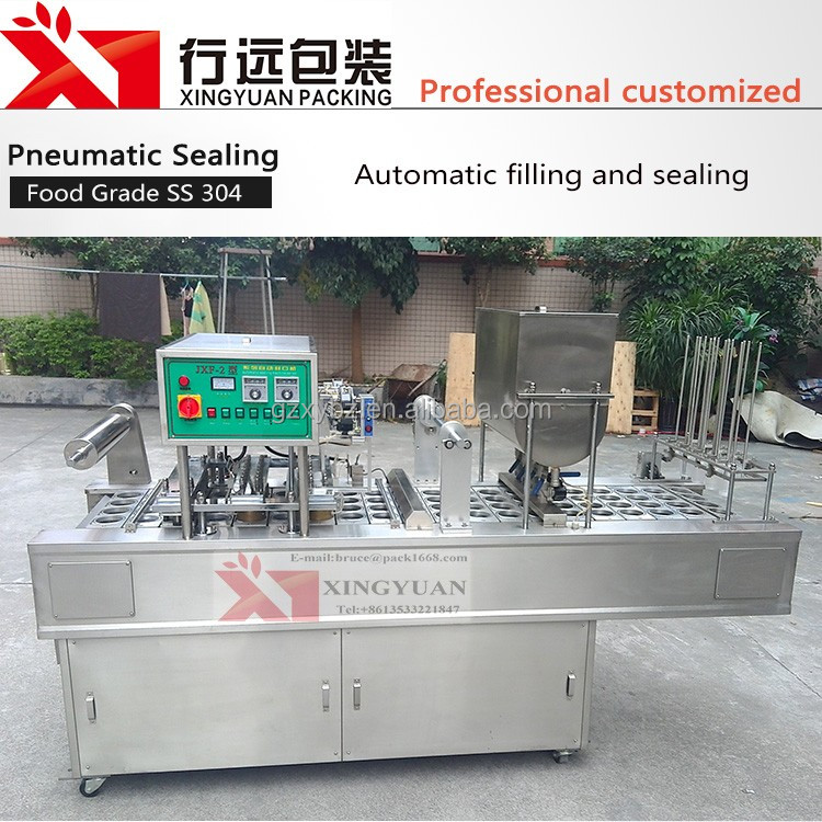 Big Automatic Fruit Juice/Water Cup/Bowl Sealing Film Machine