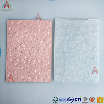 2017 new plastic DIY embossing folder with beauty leaf patterns.