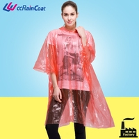 Simple women disposable rubber rain coat