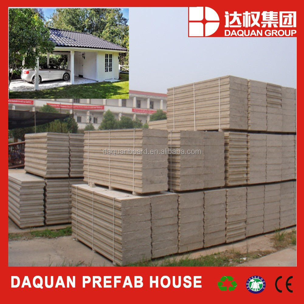 DQ EPS Fireproofing and calcium silicate surfaced EPS cement wall panel