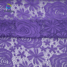 58 Inch Chemical Embroidery Floral Stretchy Lace Elastic Trim Fabric for Garment DIY Craft Supply