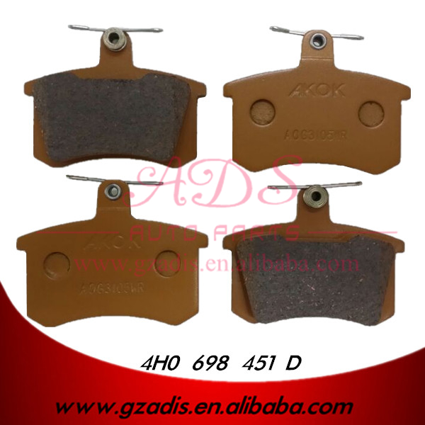 FOR A6 CAR PARTS DRUM BRAKE PADS FOR AUDI OEM: 4H0 698 451 D