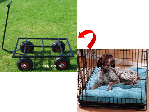 dog cage trolley,aluminium dog trolley,3-in-1 aluminium dog trolley