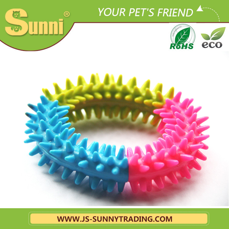 Factory wholesale soft rubber ring dog chew toy
