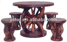 Outdoor Rustic Furniture Set with FSC/SGS/ITS