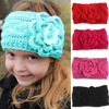 Winter Kids Newborn Toddler Infant Girls flower Headband Crochet Headband Knitted Bow Hairband Hair Band Accessories wh-1507