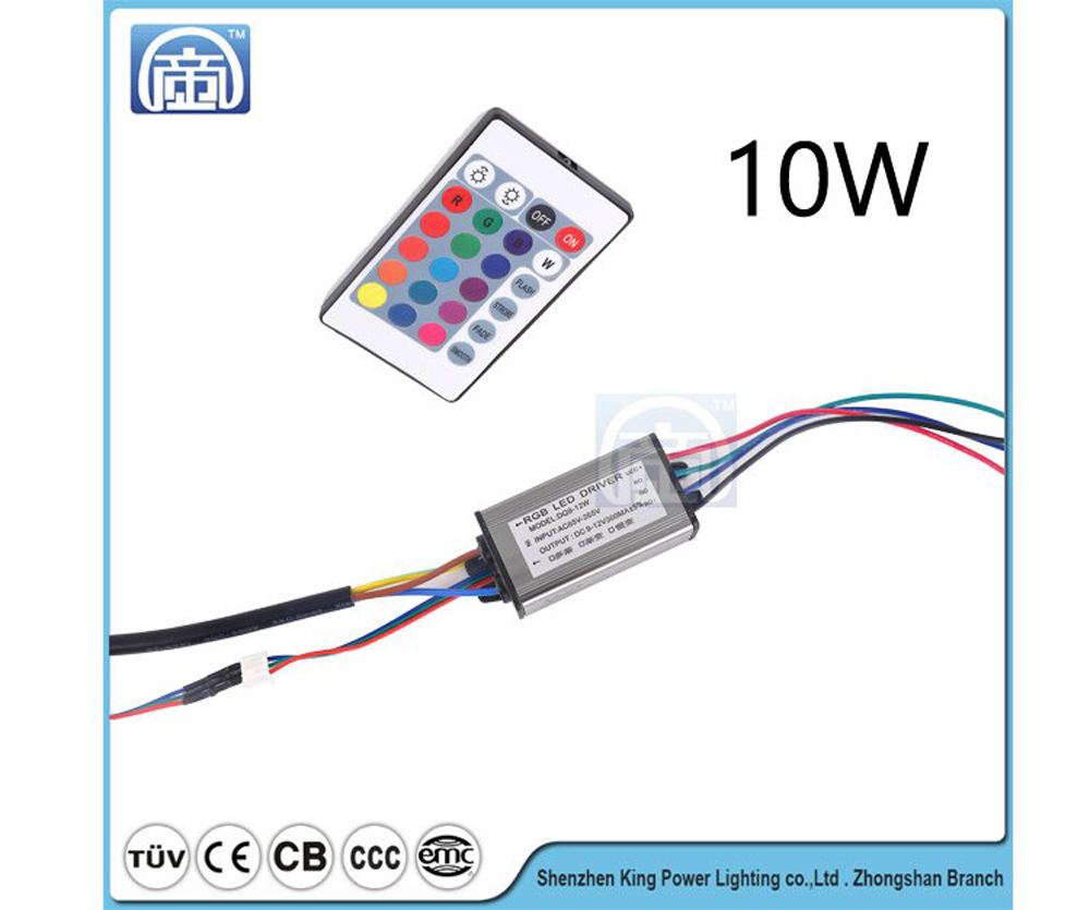 10W20W30W50W RGB Remote Control Power Supply Waterproof LED Driver