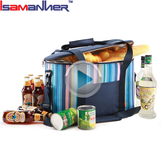 Family portable thermal lined cooler bag, outdoor trendy picnic cooler tote bag