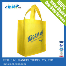 2015 Hot-Selling fancy yellow non woven shopping bag