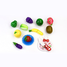 Hot sale Plastic Fruit Cutting Play Vegetable Set Pretend Kitchen Cooking Toys For Kids
