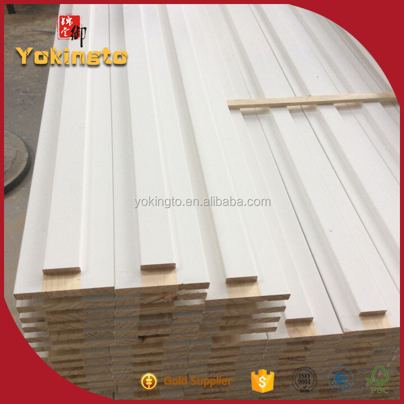 Ceiling cornice skirting board / wood frame / baseboard moulding for furniture