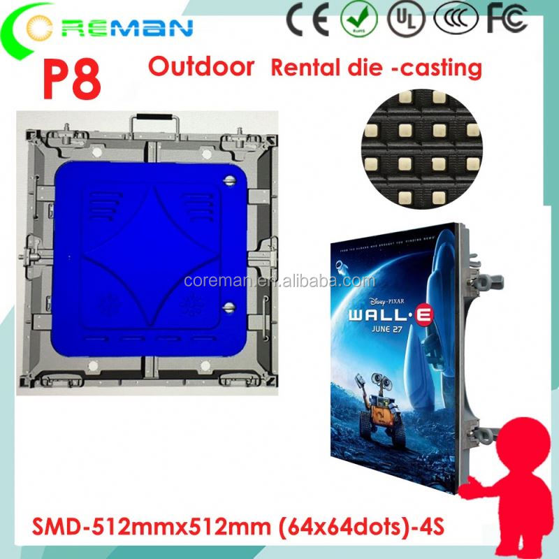 video xx p3.9mm outdoor rental led screen , p8 p10 p6 curve curtain screen , Super good video led wall unit