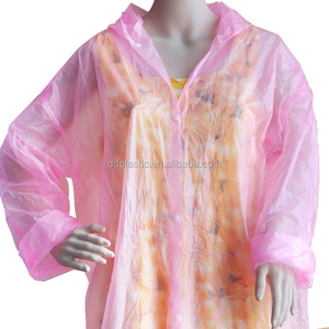 Custom Logo Printed Rain Poncho waterproof raincoat fabric