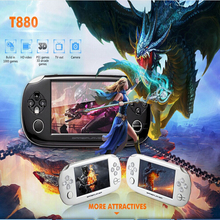 2017 factory directly price 4,3 inch Children's handheld game console with touch screen total 999999games
