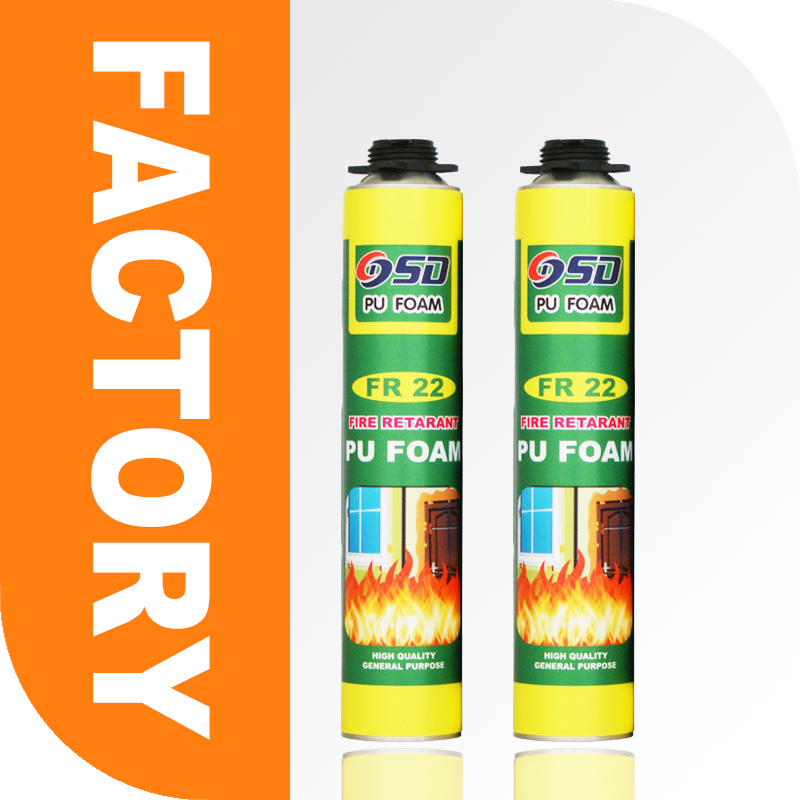 Free sample 300ml 500ml 750ml home construction fireproof polyurethane Foam fire proof spray foam insulation