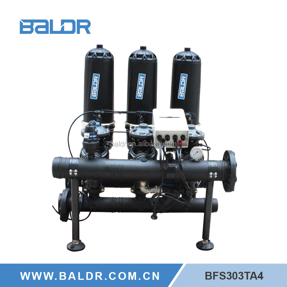 Auto disc self cleaning filtration machine farm irrigation systems
