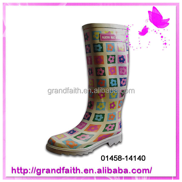 gold supplier china men clear pvc rain boots