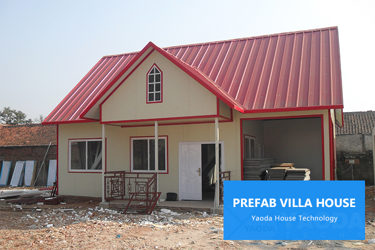 Pre fab house steel construction villa luxury modern cheap prefabricated house prefab steel villa