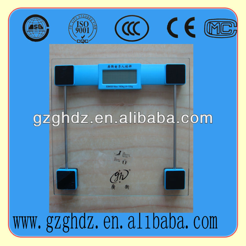 glass bathroom body fat scale home use body electronic weighing scale