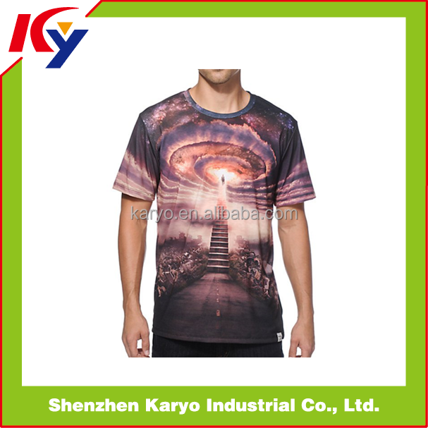 Latest New Model Fashion Short Sleeve Running Jersey Sporty Men Loose T Shirt 100% Polyester
