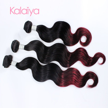 Fashion hair extension color 99j virgin human hair for white people