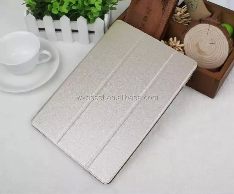 New Products With PC Transparent Case PU Leather Cover Case With Stand for iPad Air 2