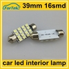 double arrow 39mm 3528/1210 16smd car interior reading lamp