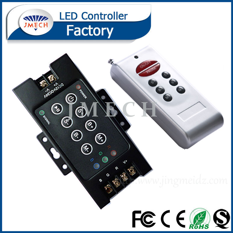 DC12V-24V 360w-720w 30A Iron shell Wireless RF Remote RGB Controller LED Dimmer for LED Strip 5050 3528