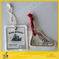 Sinicline OEM Fabric Cotton Canvas Hang Tag for Clothing