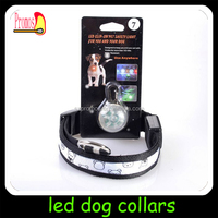 S/M/L size pet products led dog collar,dog collar led